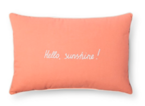 Again who doesn't want a pillow that greets you