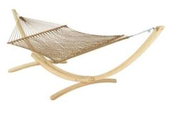 3. Also love the wooden stand on this one and love the pattern on the net it looks super comfy retails for $170