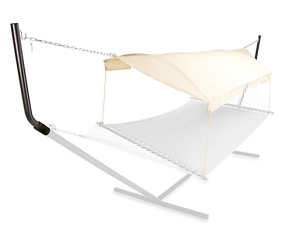5. I love this hammock because it looks modern and chic and also gives you some shade also retails for $139.99