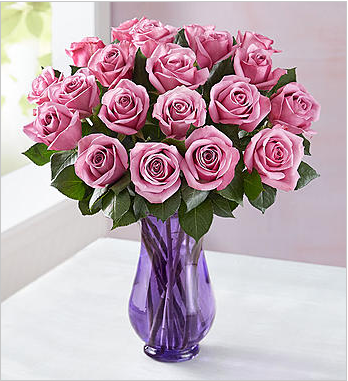 In love with purple roses and I feel like these give the room a pop of color