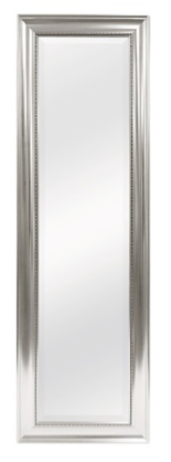 This mirror is sleek and modern and the border is cute
